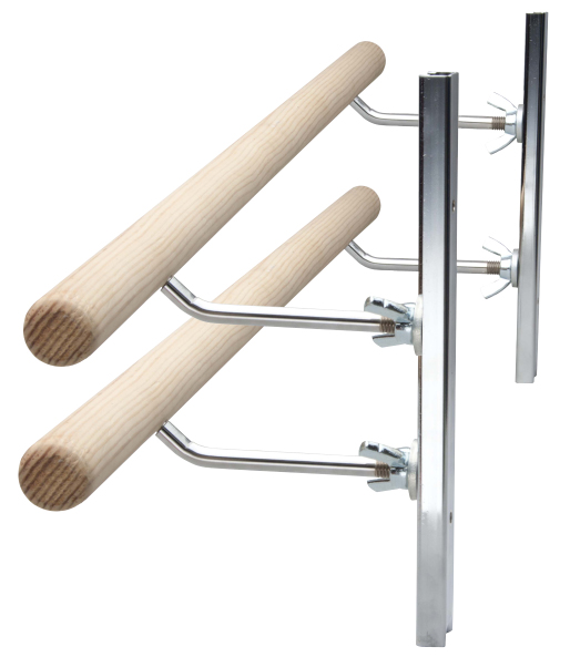 double wallmount ballet barre with adjustable brackets
