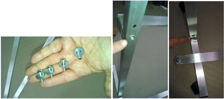install the crossbrace on your horizontal rolling mirror