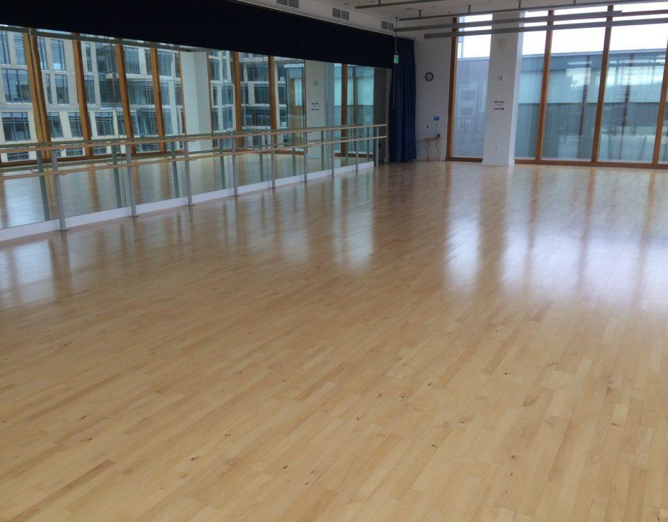 dance floor installation - elite springflex dance floor system