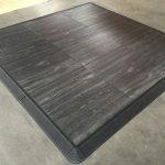 Portable Woodgrain Marley Surface Interlocking Dance Floor Kits Black Oak