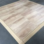 Portable Woodgrain Marley Surface Interlocking Dance Floor Kits Light Maple